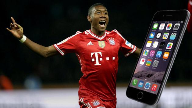iPhone-Verbot für Alaba und den FC Bayern München (Bild: AP)