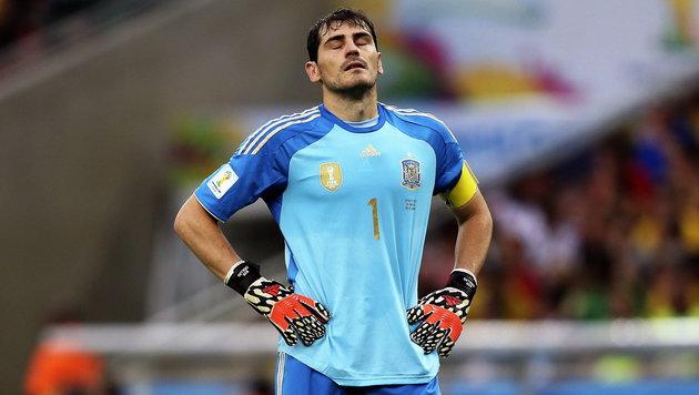 Casillas möchte Comeback für Spanien geben (Bild: APA/EPA/ANTONIO LACERDA)