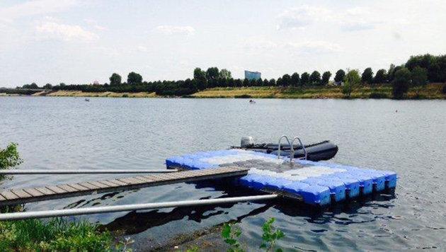 Bei dieser Badeinsel auf der Wiener Donauinsel kam es zum tragischen Unglück. (Bild: APA/LPD WIEN)