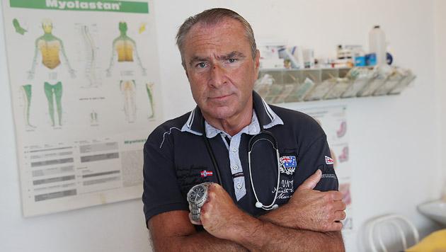Der Mediziner Thomas Unden erlitt einen Nasenbeinbruch. (Bild: Peter Tomschi)