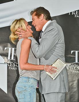 David Hasselhoff ist drei Jahrzehnte älter als seine Freundin Hayley Roberts. (Bild: Viennareport)