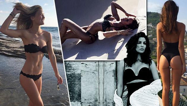 Die Stars posten fleißig Bikinifotos - wer postet das heißeste? (Bild: instagram.com)