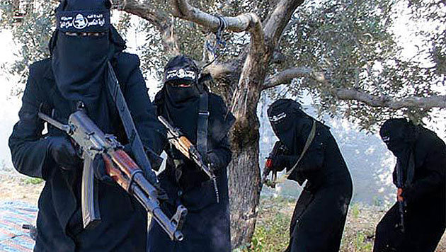 Auch Frauen kämpfen im Dschihad. Meist heiraten sie aber Kämpfer. (Bild: SyriaDeeply.org)