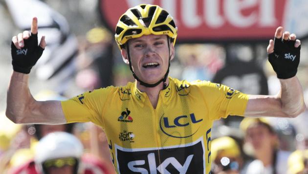 Chris Froome gewinnt erste Pyrenäen-Etappe (Bild: AP)