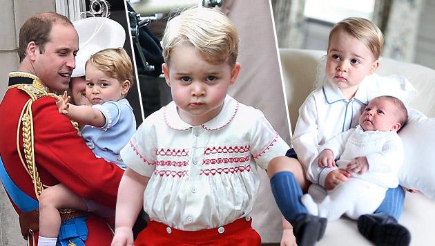 Happy Birthday! Mini-Prinz George wird 2 (Bild: APA/EPA/FACUNDO ARRIZABALAGA, AP)