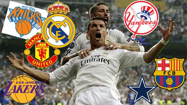 Die 10 teuersten Sport-Teams der Welt: Real vorne! (Bild: APA/EPA/JuanJo Martin)
