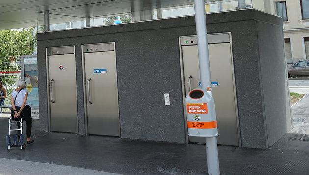 Die neue WC-Anlage in Stammersdorf (Bild: Peter Tomschi)