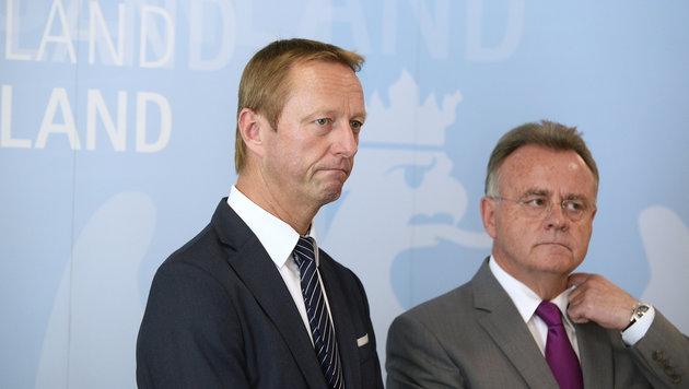 Johann Tschürtz und Hans Niessl (Bild: APA/ROBERT JAEGER)