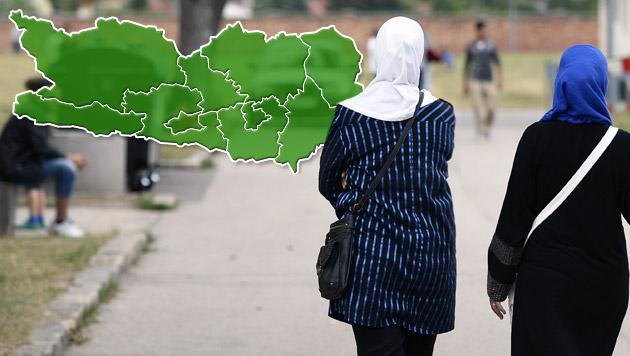 Asyl: Kärnten arbeitet jetzt mit Bezirksquoten (Bild: APA/Robert Jäger, Wikipedia.com von AleXXw)