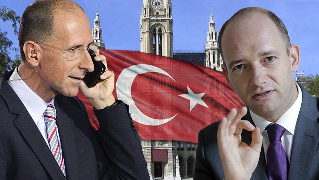 """Peter Filzmaier (li.) und Thomas Hofer (re.) sind sich sicher: """"Türkische Liste schadet Wiener SPÖ."""" (Bild: APA/DIETMAR STIPLOVSEK, APA/GEORG HOCHMUTH, thinkstockphotos.de)"""