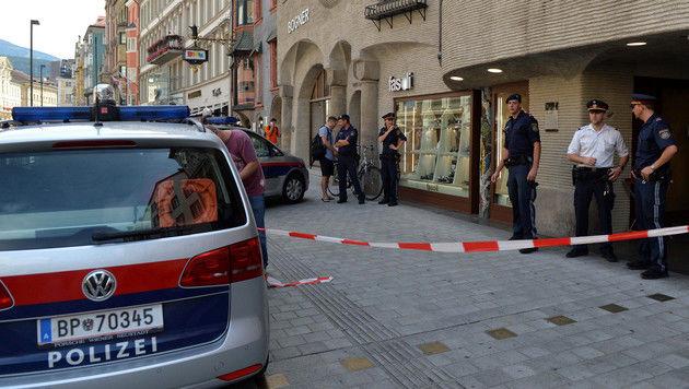 Juweliergeschäft in Innsbruck überfallen (Bild: APA/ZEITUNGSFOTO.AT)