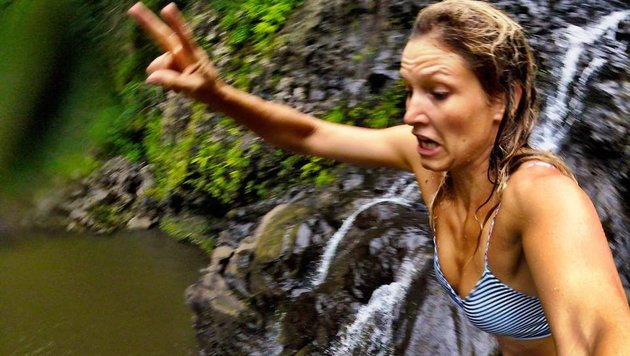 US-Ski-Star Julia Mancuso mit ihrem coolen Wasserfall-Selfie! (Bild: Facebook.com)