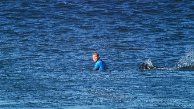 KFC wirbt mit Hai-Attacke auf Surfprofi Fanning (Bild: APA/EPA/WORLD SURF LEAGUE)