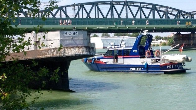 Tonnenschwere Frachter trieben führerlos auf Donau (Bild: LPD WIEN)