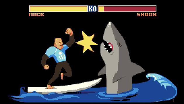 Surf-Champ rettet sich mit Faustschlägen vor Hai (Bild: Facebook.com)