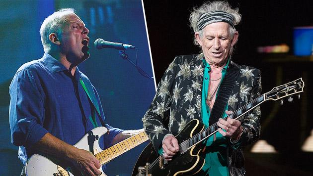 Gilmour & Richards: Alte Rocker rosten nicht (Bild: Krone, AP)