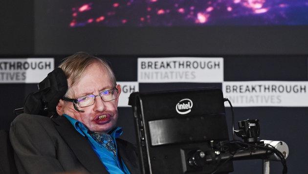 Hawking wirbt für Suche nach Außerirdischen (Bild: APA/EPA/Andy Rain)