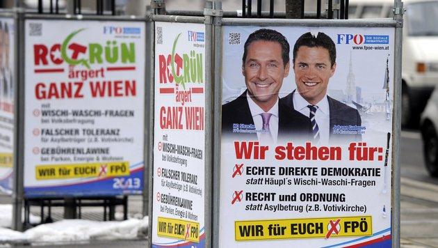 """Platz eins für FPÖ in Wien """"nicht auszuschließen"""" (Bild: APA/Herbert Pfarrhofer)"""