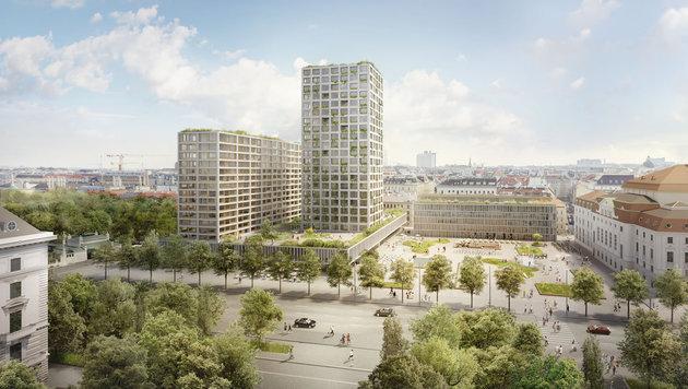 Das Projekt des Architekten Isay Weinfeld sieht einen 73 Meter hohen Neubau beim Eislaufverein vor. (Bild: Wertinvest)