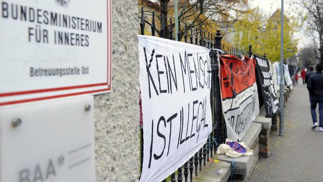 Asyl-Demonstration in Traiskirchen untersagt (Bild: APA/HERBERT P. OCZERET)