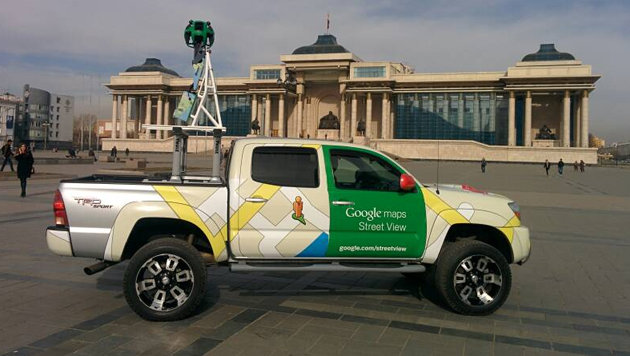 Google Street View zeigt die mongolische Steppe (Bild: Google)