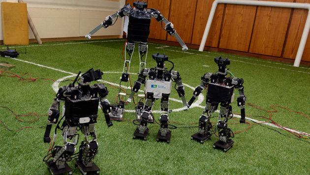 Japan besiegt China bei Fußball-WM der Roboter (Bild: AFP)