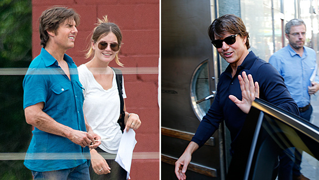 Tom Cruise und seine Assistentin Emily Thomas (Bild: splash news, Reinhard Holl)