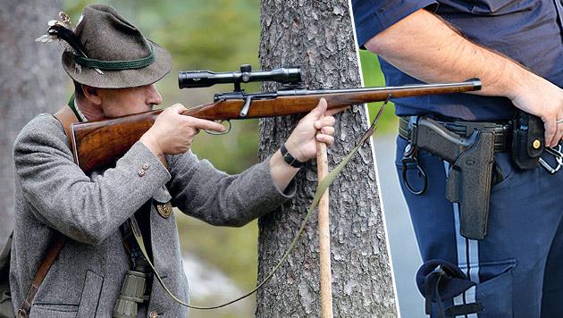 Waffenpass-Sperre f�r Polizisten und J�ger (Bild: APA/ BARBARA GINDL)