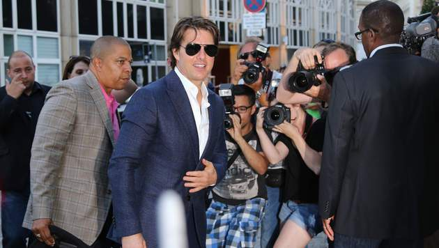 Tom Cruise speiste am Dienstagabend im Palais Coburg. (Bild: Starpix/A. Tuma/SPY)