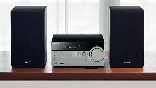 Sonys CMT-SX7 ist eine netzwerkfähige Kompaktanlage der neuesten Generation. (Bild: Sony)