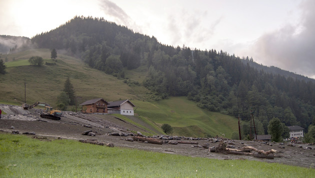 Murenabgang im Salzburger Rauristal (Bild: APA/MARKUS WINKLER/AIRCLICK)