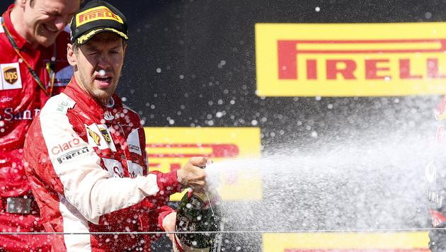 Vettel gewinnt verrückten Grand Prix von Ungarn (Bild: APA/EPA/SRDJAN SUKI)