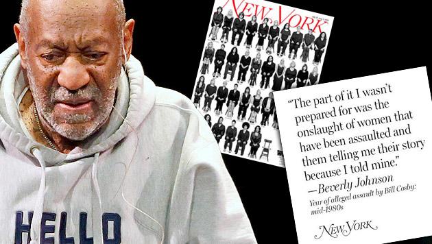 "35 Opfer: ""Bill Cosby hat uns missbraucht"" (Bild: twitter.com/New York Magazine, APA)"