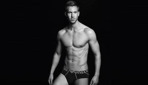Calvin Harris ist Werbeträger für Unterhosen von Emporio Armani. (Bild: Twitter)