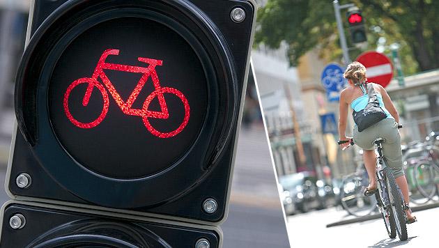 So nicht! Auch für Radfahrer gilt die Straßenverkehrsordnung (Bild: thinkstockphotos.de, Gerhard Bartel)