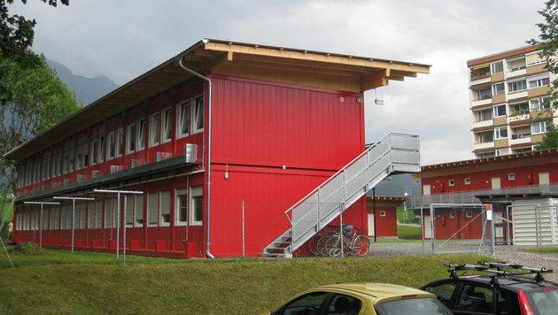 """Genau so werden die Containerdörfer in OÖ aussehen. Das Land bestellte insgesamt 600 Boxen. (Bild: """"Krone"""")"""