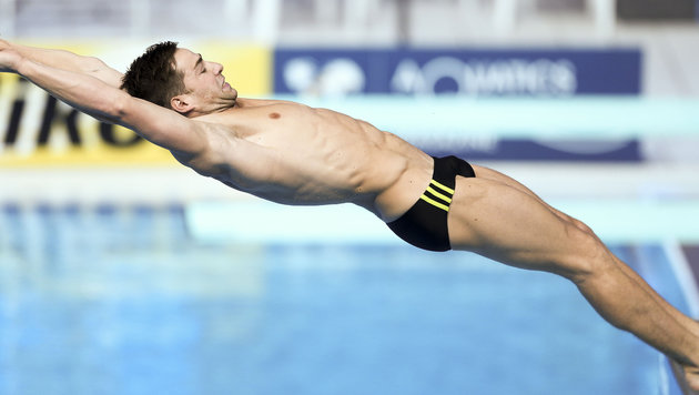 Constantin Blaha holt vom 1-m-Brett EM-Bronze! (Bild: GEPA)