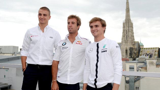 Die DTM-Piloten Nico Müller, Antonio Felix da Costa und Lucas Auer (Bild: APA/HANS KLAUS TECHT)