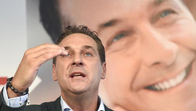 """Strache: Regierung hat """"Asylchaos"""" verursacht (Bild: APA/HELMUT FOHRINGER)"""