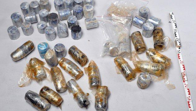 Die sichergestellten Drogen (Bild: LPD WIEN)