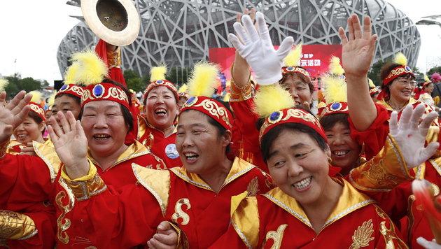 Chinesischer Jubel (Bild: APA/EPA/ROLEX DELA PENA)