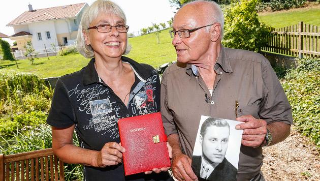 Gisela Möres und ihre Jugendliebe Peter Gogler (Bild: Markus Tschepp)