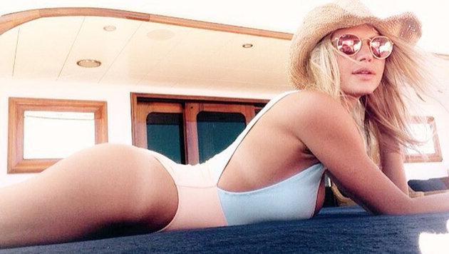 Kelly Rohrbach ziert Leonardo DiCaprios Ferien-Jacht. (Bild: Viennareport)