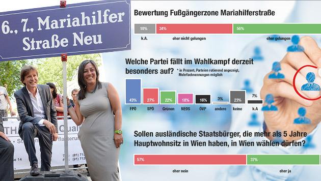 """""""Mahü"""" gefällt, Nein zu Wahlrecht für Ausländer (Bild: Krone Grafik, APA/HANS KLAUS TECHT)"""