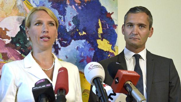 Team-Stronach-Abtrünnige Kathrin Nachbaur und Rouven Ertlschweiger (Bild: APA/HANS PUNZ)
