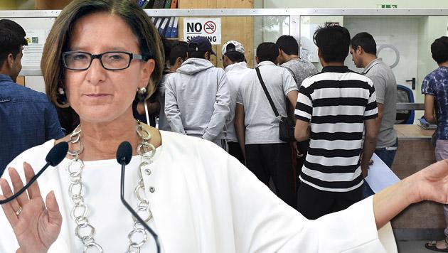 """Statt Asyl: Mikl-Leitner erwägt """"Schutz auf Zeit"""" (Bild: APA/HELMUT FOHRINGER,  APA/HERBERT NEUBAUER)"""