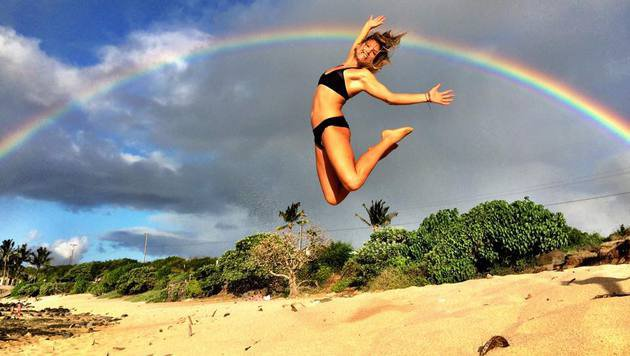 Julia Mancuso genießt die freien Tage. (Bild: Facebook.com)