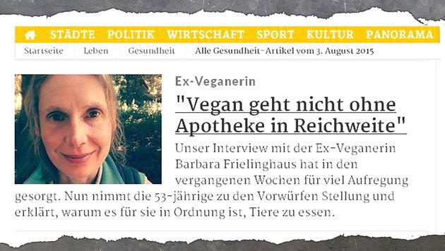 """""""Streit flammt neu auf: Fleischesser vs. Vegetarier (Bild: RP Online)"""""""