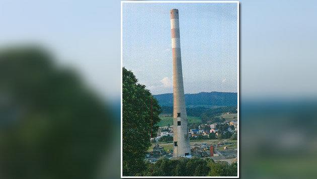 """Der """"Schiefe Turm von Voitsberg"""" (Bild: APA/PRIVAT)"""