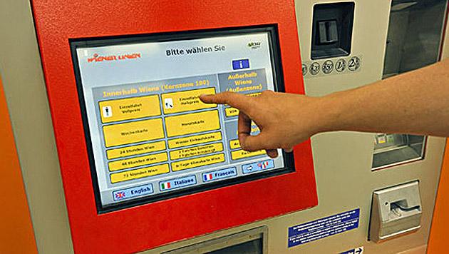 Fahrscheinautomat druckt Tickets aus der Zukunft (Bild: Wiener Linien/Jan Gott)